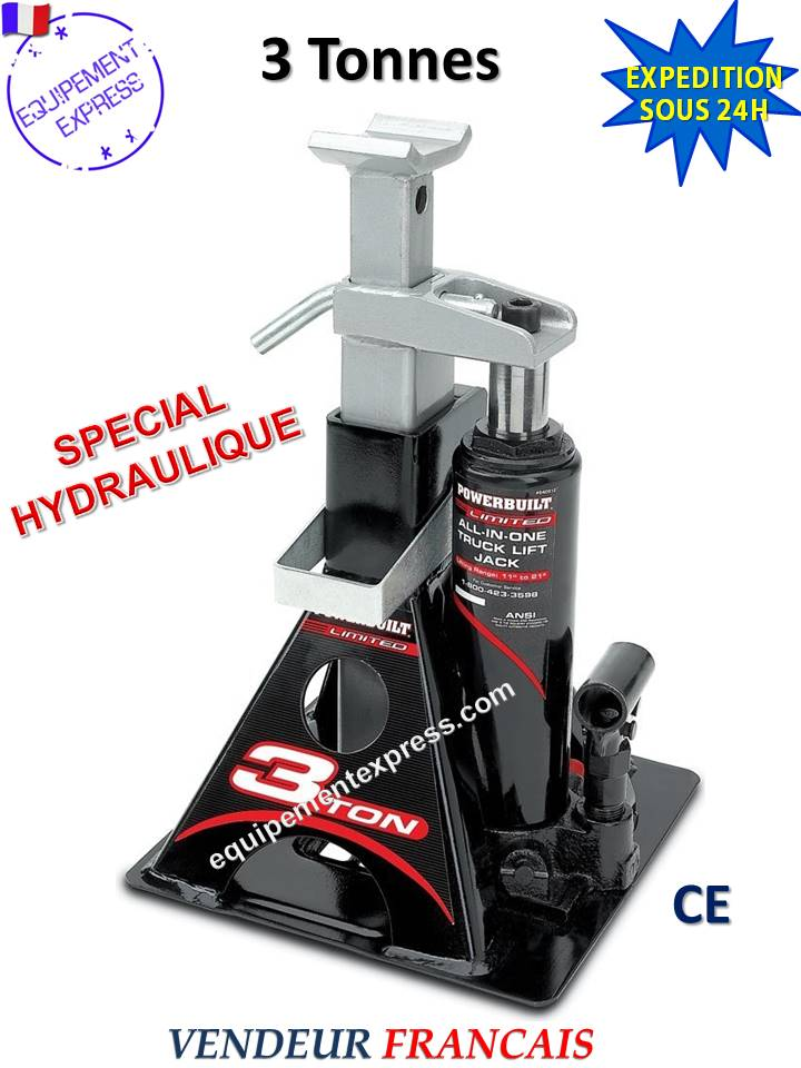 chandelle hydraulique cric bouteille 3t : ideal pour camping-car