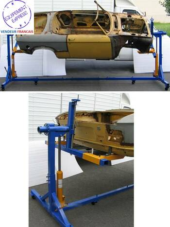 pont l vateur mobile pivotant 2t rotissoire auto voiture 360. Black Bedroom Furniture Sets. Home Design Ideas