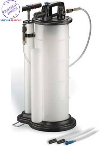 extracteur de fluide huile vidange liquide de frein pneumatique 9l litres. Black Bedroom Furniture Sets. Home Design Ideas