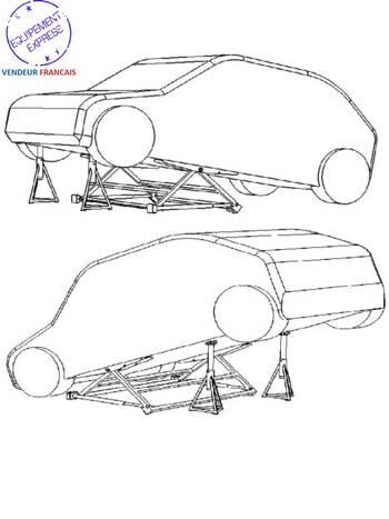 mini pont mobile basculant pour levage auto 1500 kg 1 5t. Black Bedroom Furniture Sets. Home Design Ideas