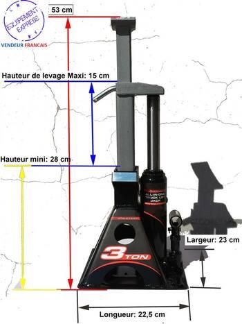 paire de chandelles hydrauliques crics bouteille 3t ideal pour camping car. Black Bedroom Furniture Sets. Home Design Ideas