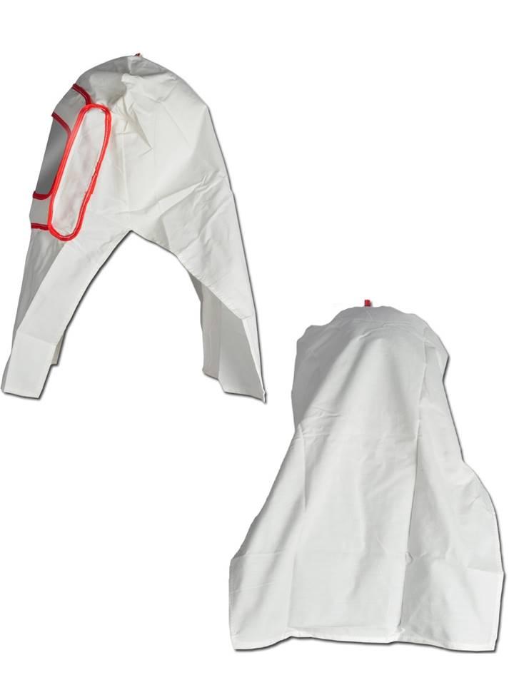 masque cagoule visiere blanc de protection de sablage ebay. Black Bedroom Furniture Sets. Home Design Ideas