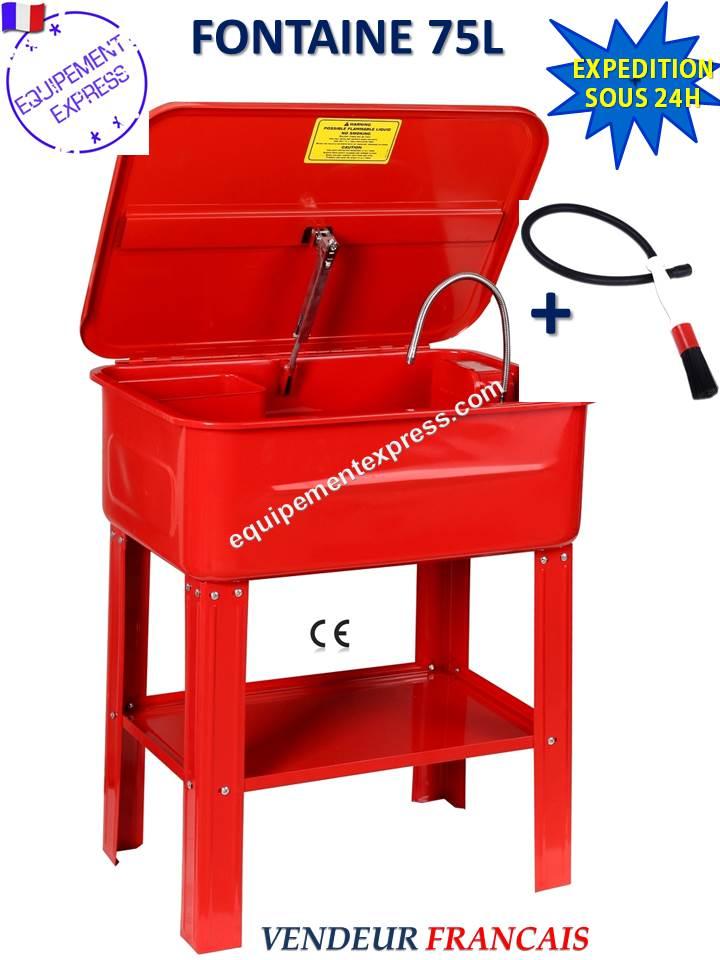 fontaine de nettoyage lavage 75l litres 20 gal pour pieces mecaniques avec pinceau brosse. Black Bedroom Furniture Sets. Home Design Ideas