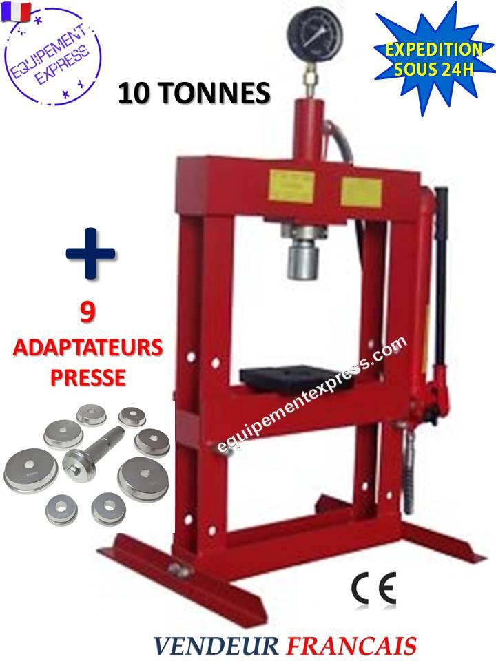 Presse hydraulique d etabli atelier 10t avec manometre 9 - Roulement a bille leroy merlin ...