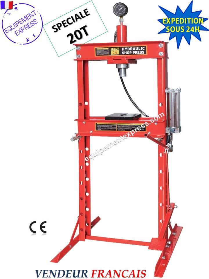 Presse hydraulique d 39 atelier 20t sur bati avec manometre - Table verin hydraulique ...