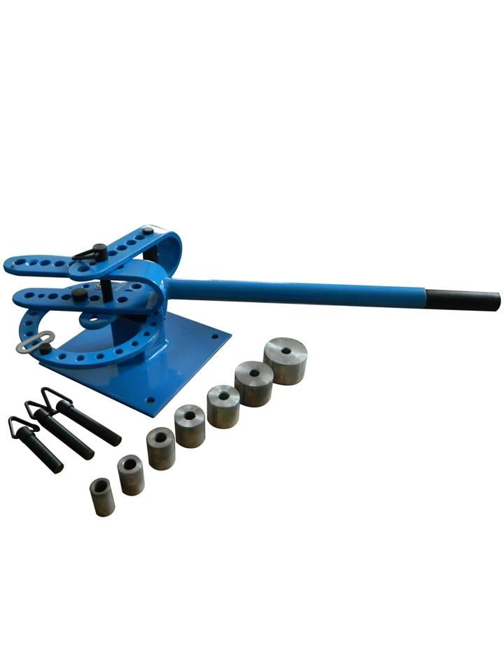 cintreuse plieuse - presse a cintrer manuelle fer plat et rond avec 7 adaptateurs