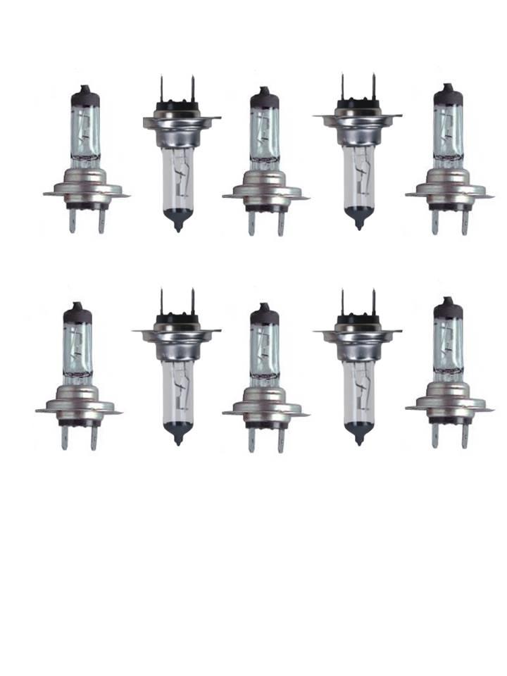 lot de 10 ampoules halogènes h7 12v 55w auto voiture