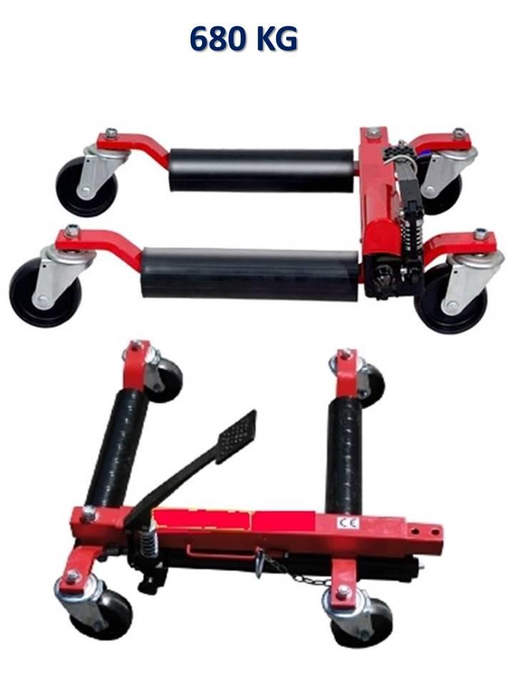 paire de chariots go jack hydrauliques 680 kg / crics de déplacement-positionnement