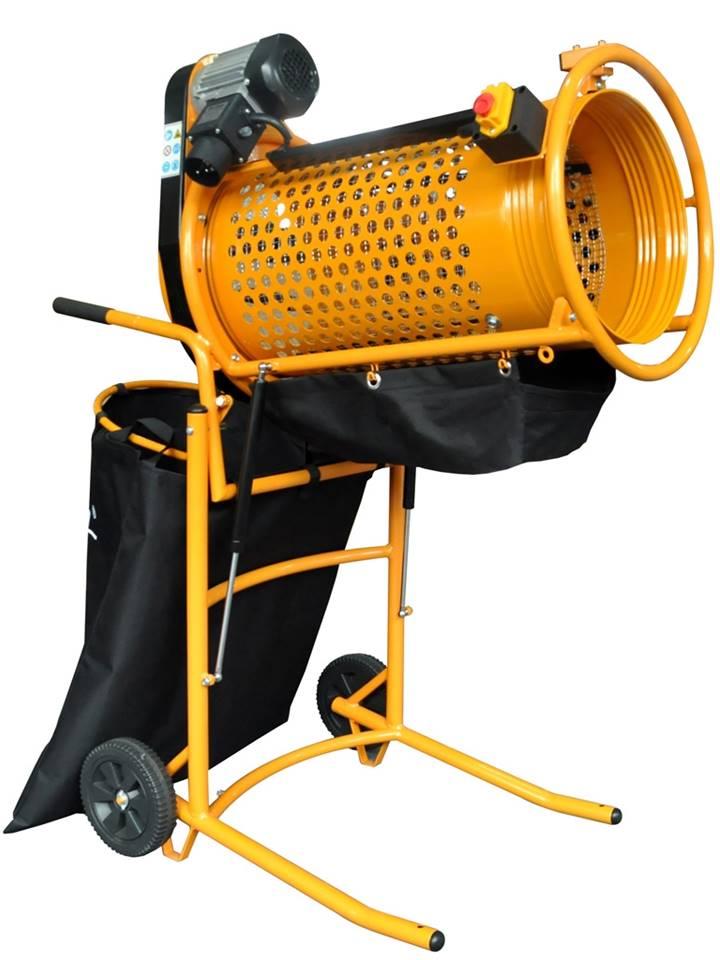 tamis rotatif cribleuse electrique pour tamisage et criblage à terre compost matériaux jardin chantier châtaignes 10x20mm
