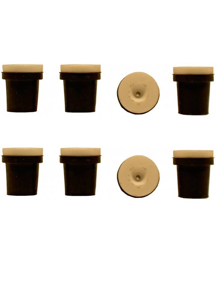 2 jeux de 4 buses céramique noires pour pistolet sableuse 38-76l : 2mm