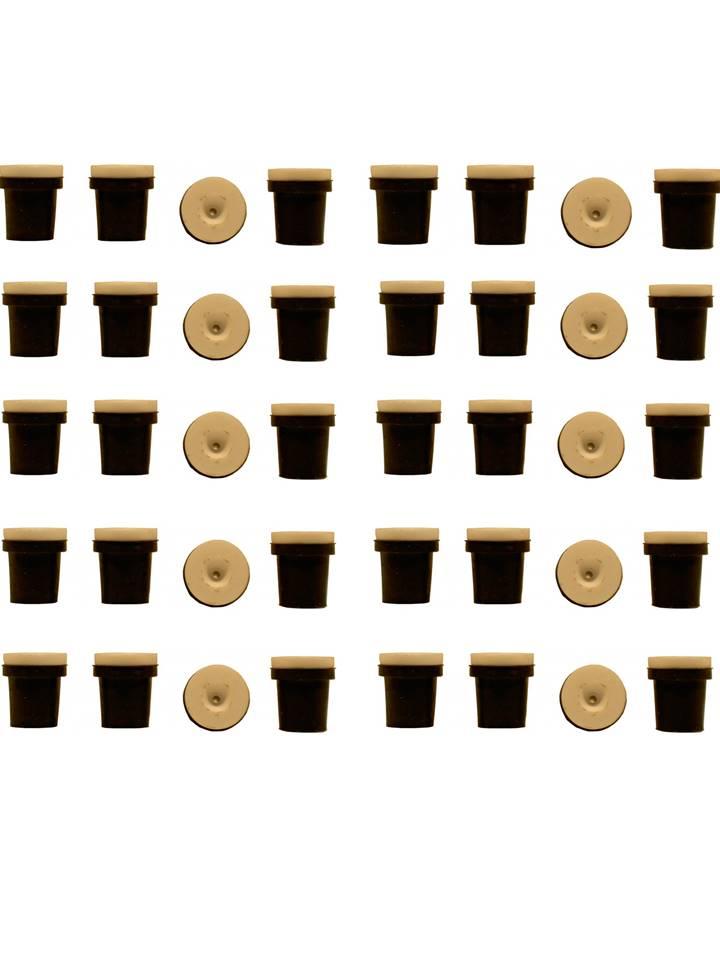 10 jeux de 4 buses céramique noires pour pistolet sableuse 38-76l : 2mm