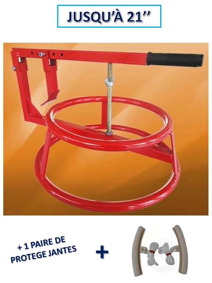 décolle pneu manuel portable avec arceau + 1 paire de protection jante