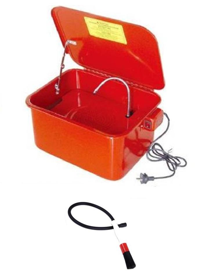 fontaine de nettoyage lavage 13,5l - 3,5 gal pieces mecaniques + pinceau brosse