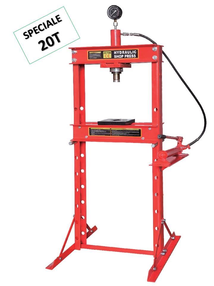 presse hydraulique d'atelier 20t tonnes sur bati avec manometre