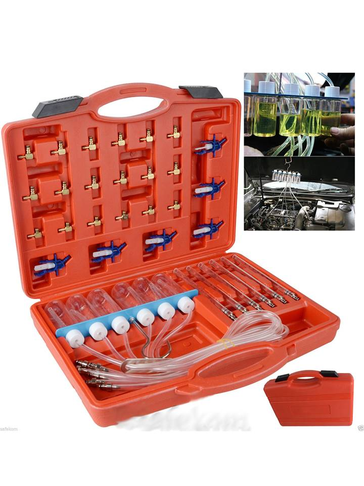 testeur d etancheite - kit diagnostique testeur injecteur carburant diesel common rail 24 adaptateurs