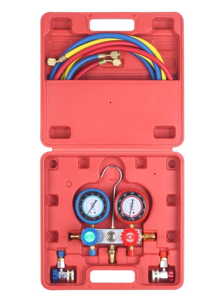 manifold frigoriste voiture testeur de climatisation diagnostic auto 2 voies r-134a