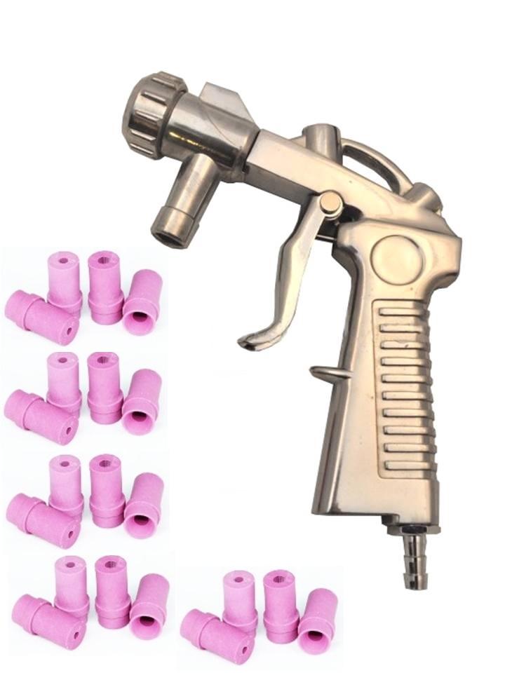pistolet de sablage pour microbilleuse cabine de sablage 20 buses. Black Bedroom Furniture Sets. Home Design Ideas