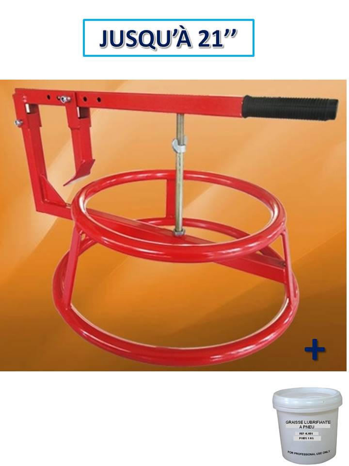 décolle pneu manuel portable avec arceau + graisse pneu 1kg