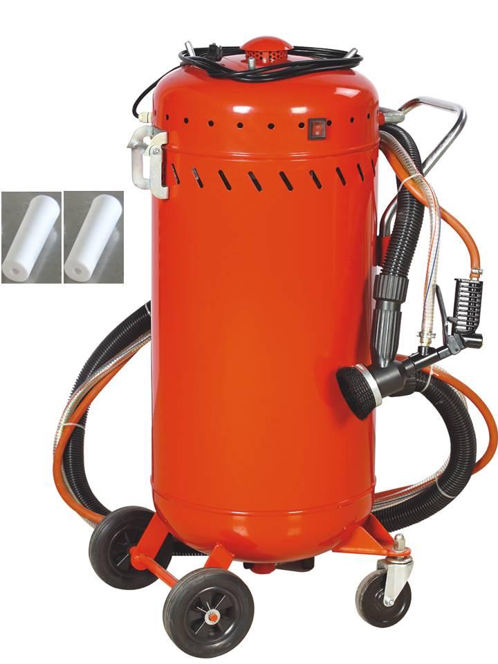 combine sableuse aspirateur mobile 106l interieur exterieur + 4 buses 7mm