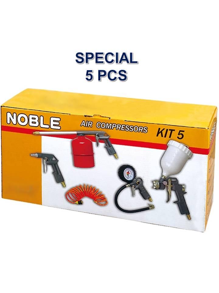 kit outils pistolet à peinture pneumatiques 5 pièces