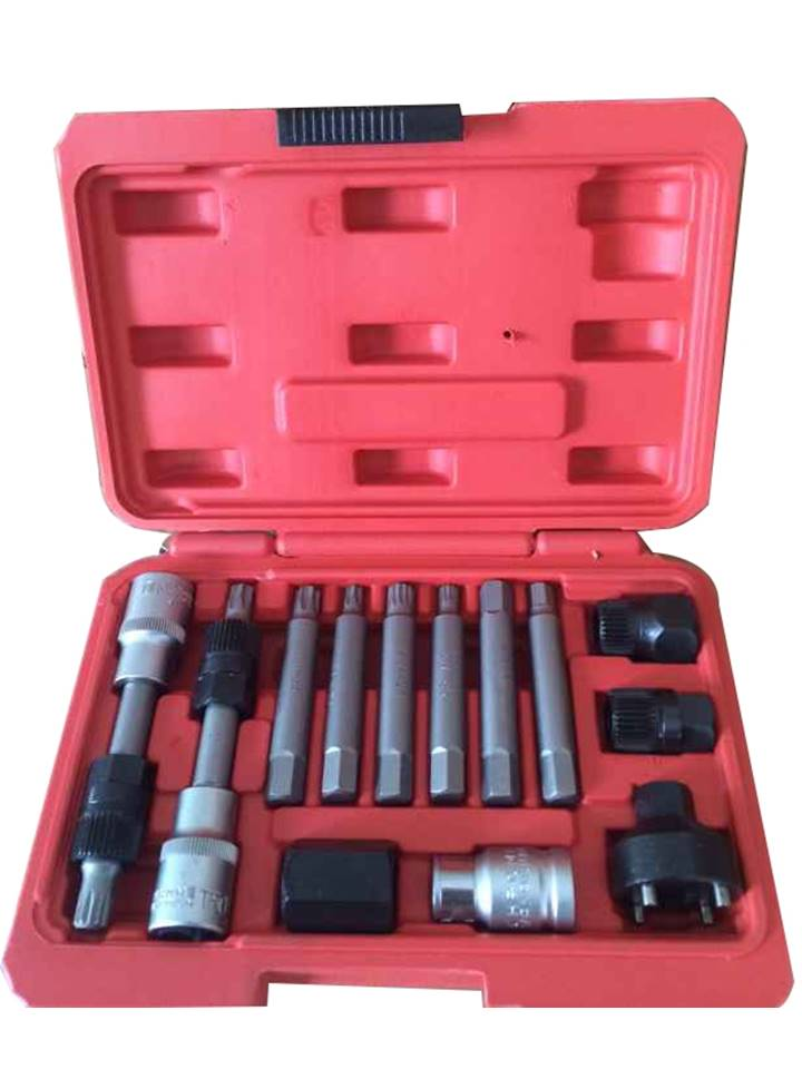 coffret outils demontage poulie alternateur debrayable multimarques torx btr 13pcs