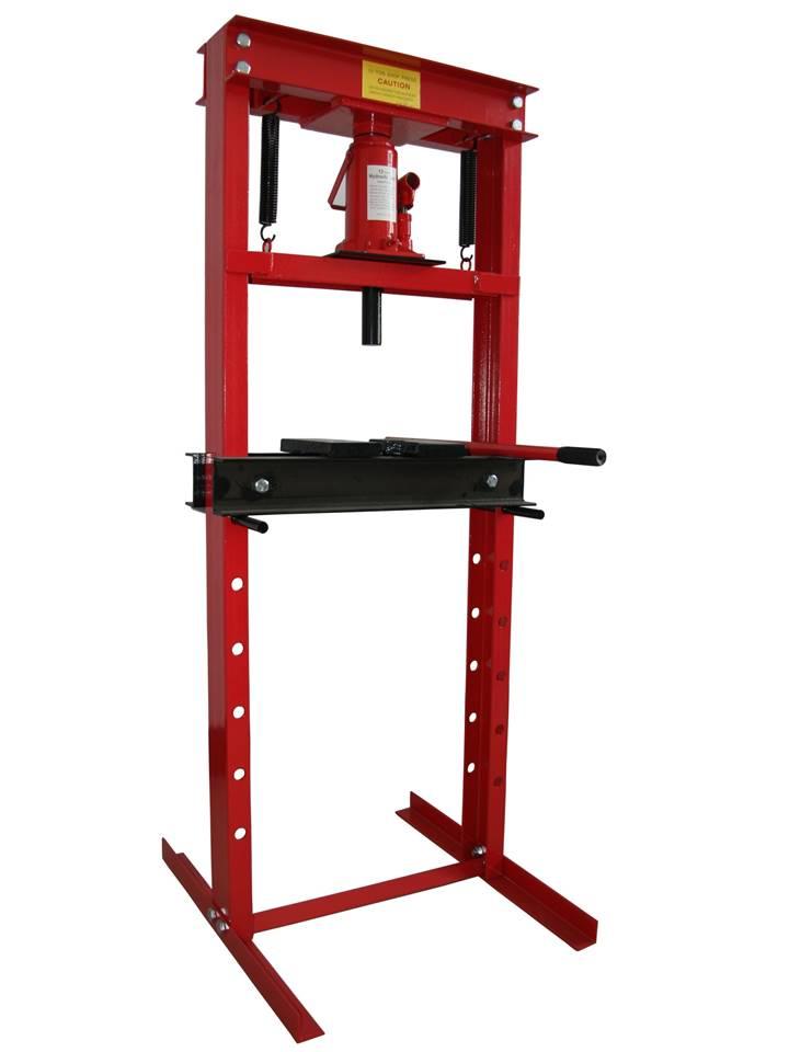 presse hydraulique d'atelier sur bati 12t tonnes sans manometre