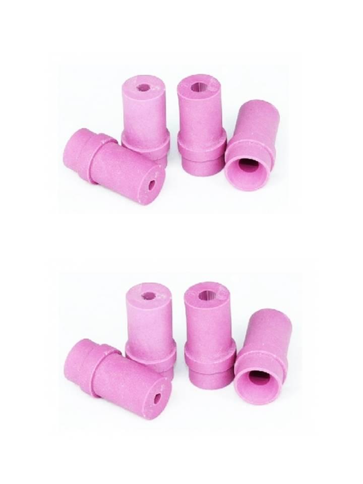 2 jeux de 4 buses céramique roses pour pistolet microbilleuse