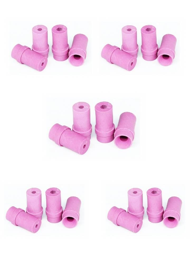 5 jeux de 4 buses ceramique roses pour pistolet microbilleuse